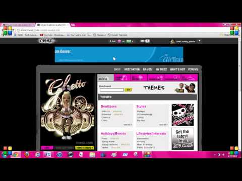 How To Cross Dress On Meez And Change Item Color  Quick And Easy  2012