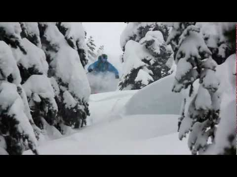 Tyler Ceccanti skiing the Pacific Northwest in ep.1 of SnowChasers