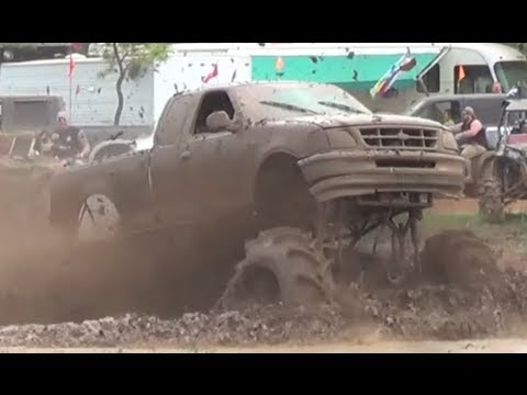 Outrageous F150!! Trucks Gone Wild 2013 Colfax Louisiana Mudfest Blown Tranny Tractor Tires!