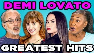 ELDERS READ DEMI LOVATO'S HIT SONGS (React)