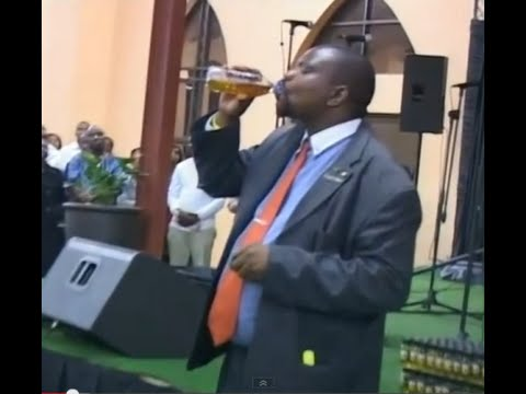 People drinking petrol in church - Grass pastor.