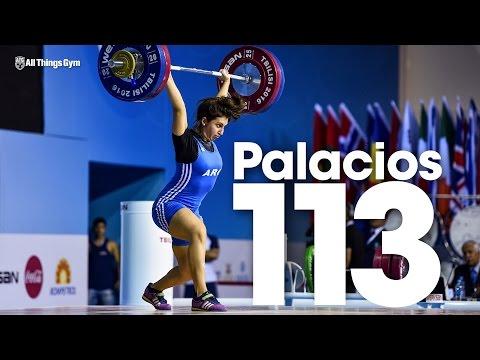 Joana Palacios (63kg, Argentina, 19y/o) 113kg Clean and Jerk Bronze Medal 2016 Junior Worlds