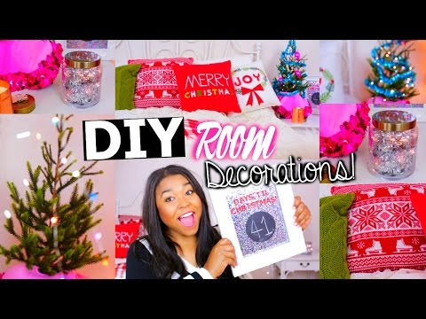 Diy Holiday Room Decor   Easy Christmas Decorations For Your Room