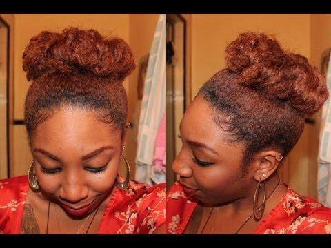 Natural Hair   High Bun Tutorial (No Filler)