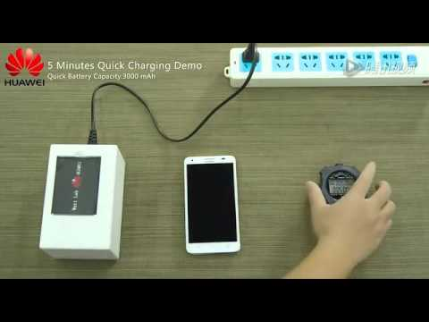 Huawei presentó baterías que se cargan al 50% en 5 minutos