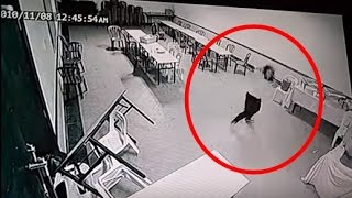 Real Ghost Attack Human Caught On CCTV Camera