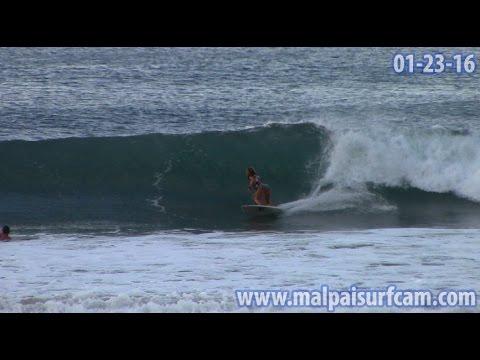 Surfing Costa Rica, www malpaisurfcam com 01 23 16 Santa Teresa Mal Pais