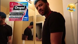 ORAJEL NUMBING MOUTH PRANK ON BROTHER!! Ft. Mega McQueen | Mega Mcvlogs