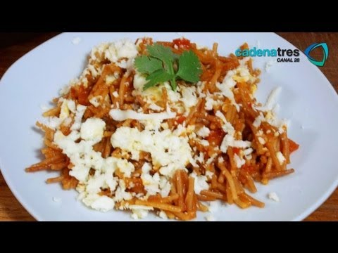 Receta de como preparar fideo seco receta de pastas for Resetas para preparar comida
