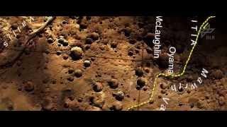 """Der echte Weg des """"Marsianers"""": Video aus Bildern der Raumsonde Mars Express (2D)"""