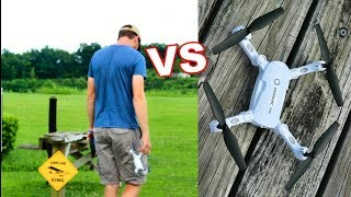 Nate's Brain VS Cheap Toy Grade Drone - Who Will WIn? - TheRcSaylors
