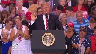 In unfiltered Phoenix speech, Trump attacks critics and threatens shutdown over border wall