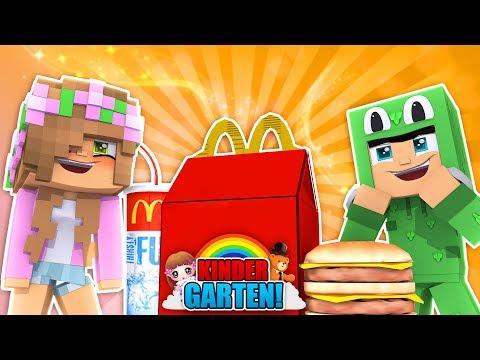 KINDERGARTENERS GO TO MCDONALDS! Minecraft Kindergarten | Little Kelly