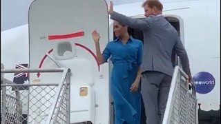 Harry & Meghan Final Day Tonga & Back To Sydney! Mosquito Song & Aborted Flight!