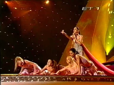 Eurovision 2003 final ΕΤ1 Greek Commentator Dafni Bokota klip izle