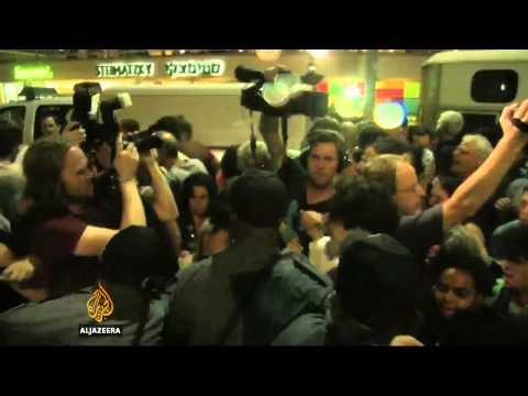 Anti-war Israelis protest over Gaza operation