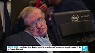 France 24, Stephen Hawking has died (french), 14.03.2018