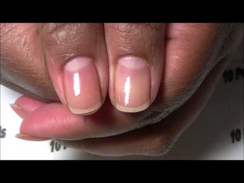 Acry Gel Application On Natural Nails