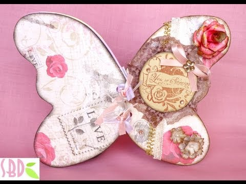 Scrapbook: Mini Album farfalla - Butterfly Mini Album (Collab. with Creazionibymia)