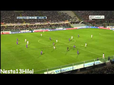 Fiorentina 0 - 1 AC Milan Seedorf Goal HD 10-4-2011