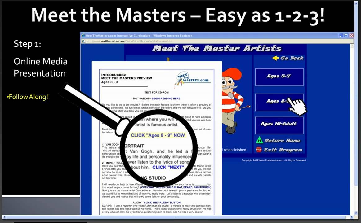 meet the masters homeschool login yahoo