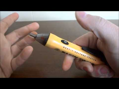 how to use a voltage tester on wires