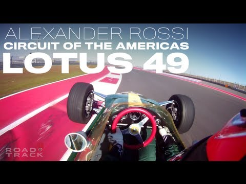 On-board with Alexander Rossi in the Lotus 49 at COTA - Road & Track