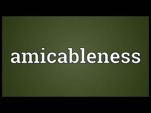 Header of amicableness