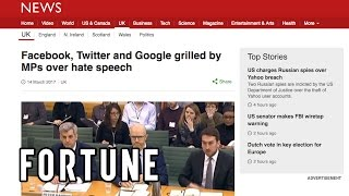 Google And Facebook Face Parliament Over Hate Speech I Fortune