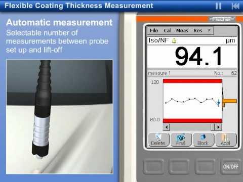FISCHER FMP100 Touchscreen Coating Thickness Measurement