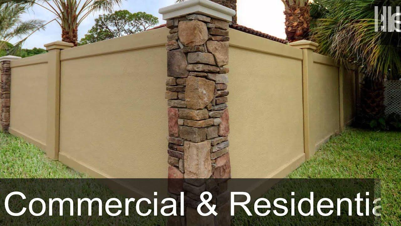 Easy To Install Precast Concrete Fence Walls For Texas