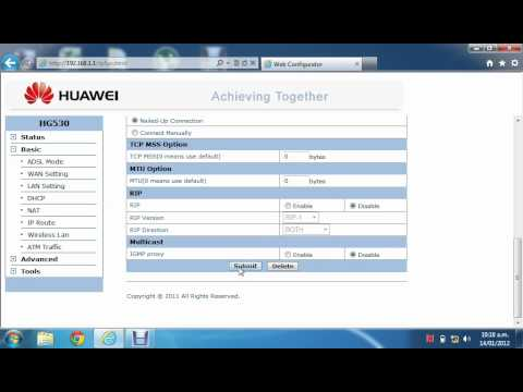 Configuracion Modem HUAWEI HG530