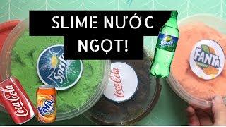 SLIME ĐÁ BÀO NƯỚC NGỌT - FANTA,SPIRTE,COCA COLA, STING