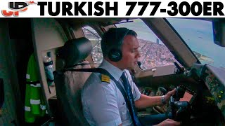 Turkish 777 Cockpit takeoff from Istanbul!