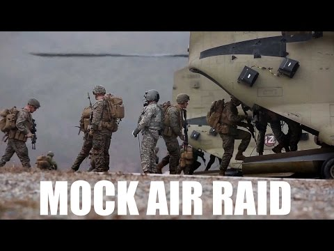 Marines Conduct Mock Air Raid