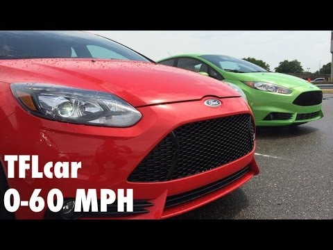 Ford Fiesta ST vs Focus ST 0-60 MPH Fully Loaded Mashup Review