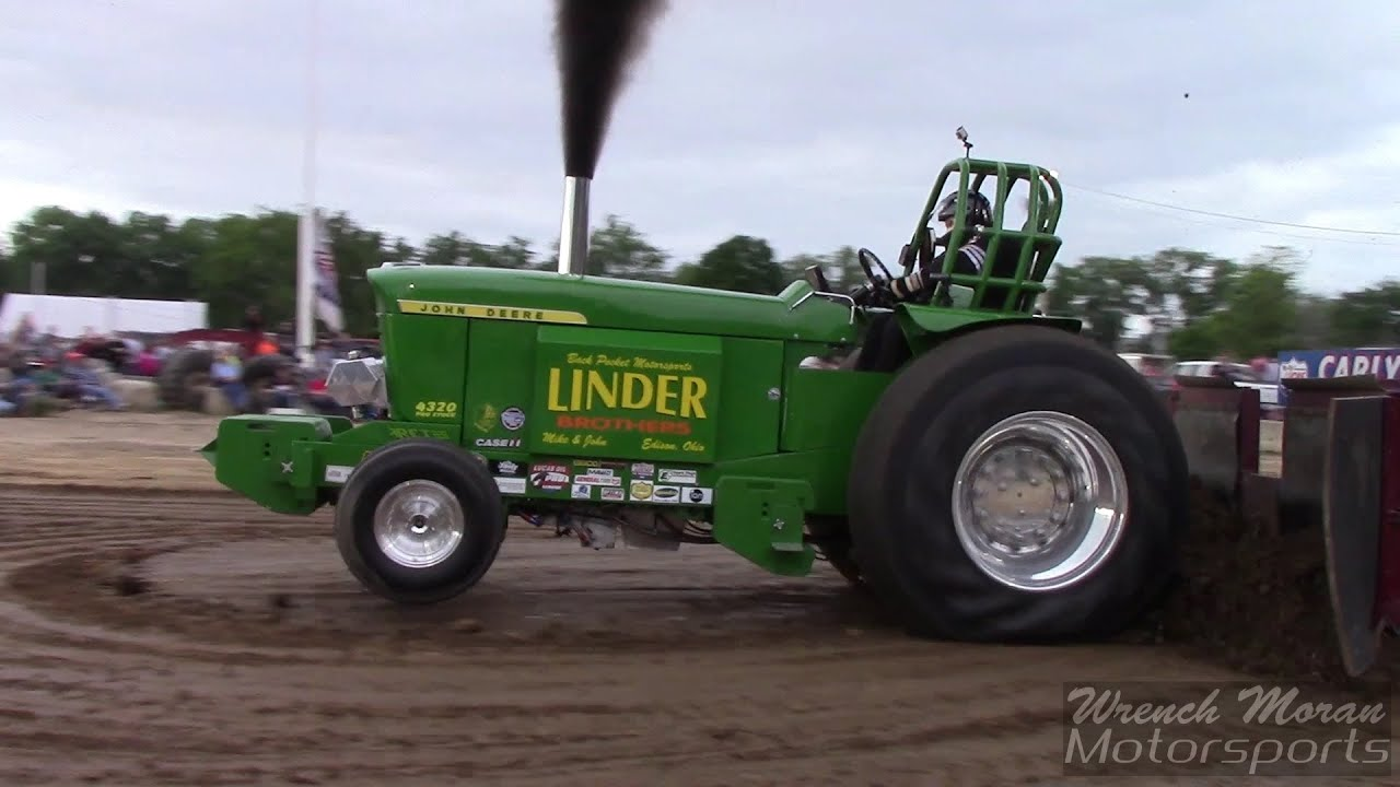 Pro Stock Pulling Tractors : Pro stock tractor pulling linder bros mt gilead youtube