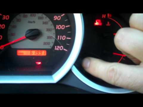 How to reset the MAINT REQD light on a Toyota Tacoma after maintenance