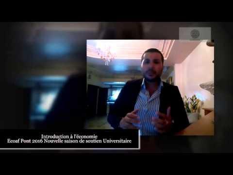 S1 Introduction à l'économie Ecoaf Fsjes 2016