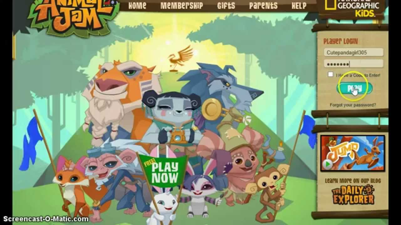 animal jam how to get free chat