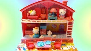 """Bộ Đồ Chơi Chú Mèo """"Hello Kitty""""Và Ngôi Nhà Xinh (Bí Đỏ) Hello Kitty Playhouse Toys Review"""