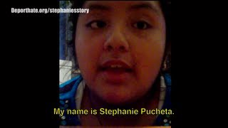 Stephanie, la nia que denuncia al mundo la dolorosa  deportacin de su padre