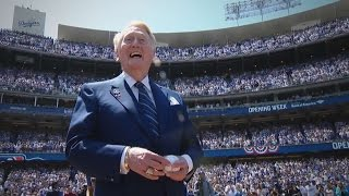 The Dodgers honor Vin Scully on Opening Day