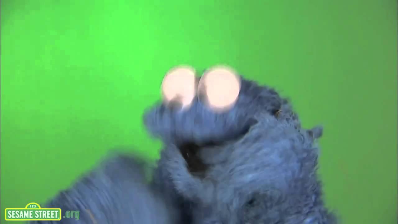 Cookie Monster Eating Cake