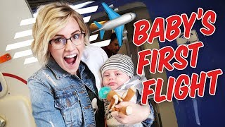 Baby's First Airplane Flight! Tips and Tricks | Ellie And Jared