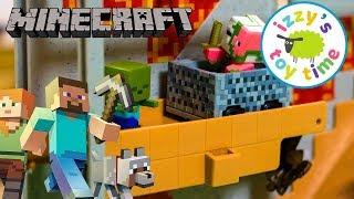 Minecraft | Hot Wheels Minecraft Mine Playset!! Toy Cars for Kids | Minecraft Toys for Children