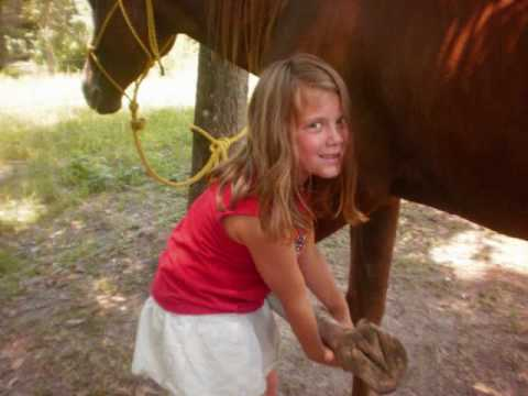 The Girls Having Fun With The Horses! video