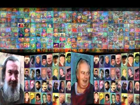 POLIPTIC CU PORTRETE DE ARTISTI   - PICTORI   - FILM DE MURIVALE 2010