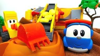 Çocuklar Için Video-Leo Junior Ve Ekskavatör Max Ekmek Pişiriyorlar. Eğlenceli Oyunlar.