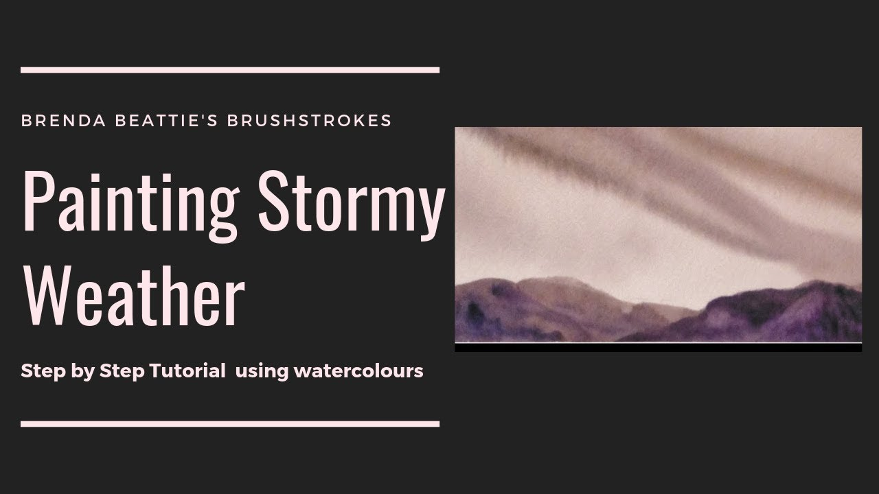 How to Paint Watercolor Clouds How to Paint Stormy Clouds in